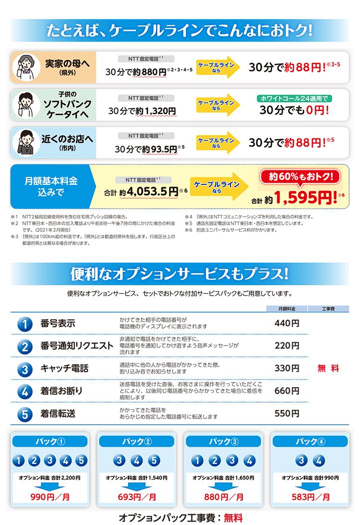 通話利用金(他社への)がおトク!